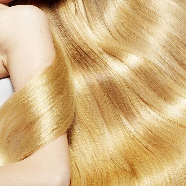 efekt koloryzacji bardzo jasny miodowy blond