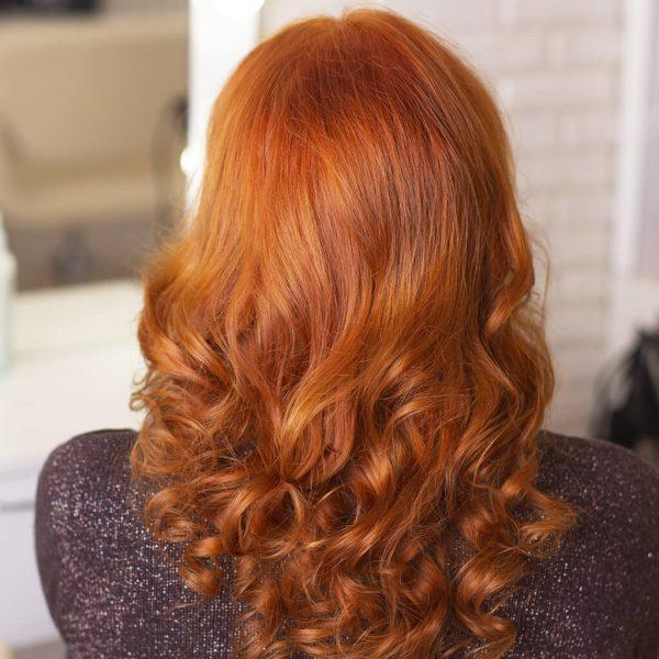 efekt farbowania jasny miedziany blond