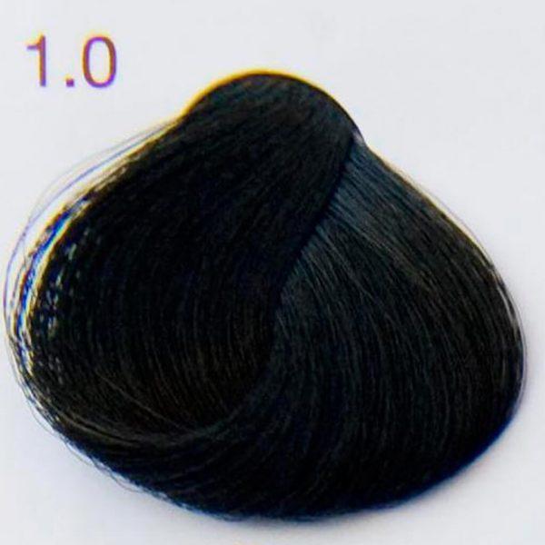 próbka farba do włosów w kolorze czarnym