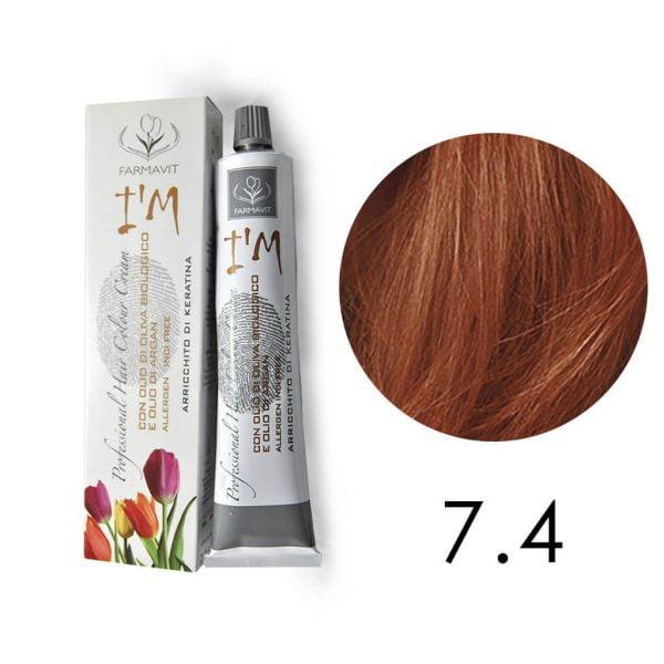 farba do włosów miedziany blond 7.4