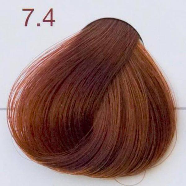 próbka koloru miedziany blond 7.4