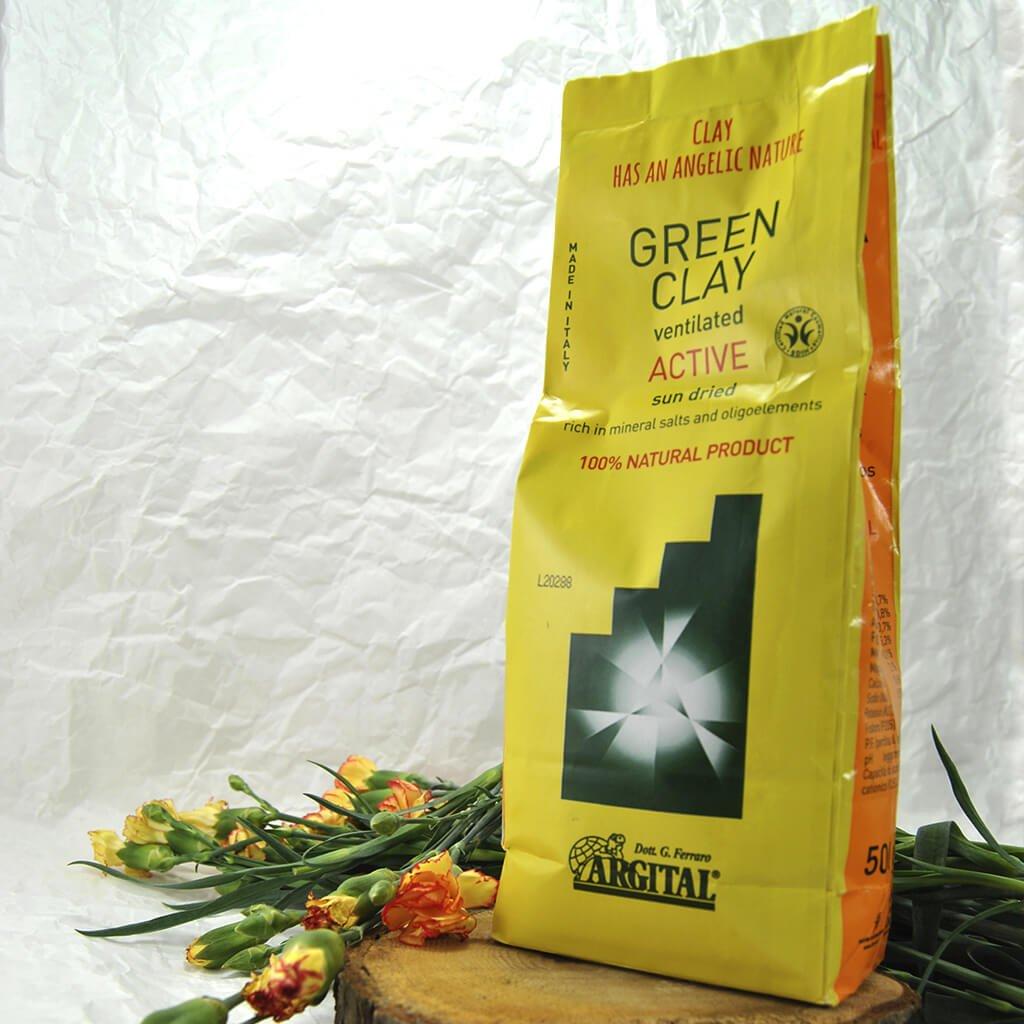 naturalna zielona glinka