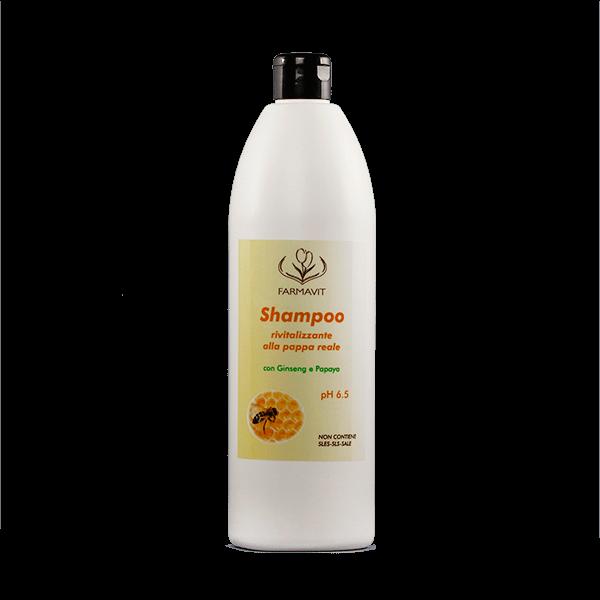 wzmacniający cebulki szampon z mleczkiem pszczelim, żeń-szeniem i papają