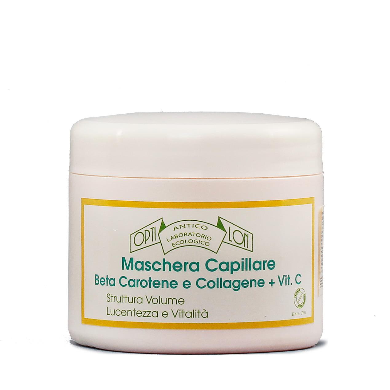 odżywcza maska do włosów z kolagenem i beta carotenem
