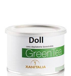wosk do depilacji z zieloną herbatą