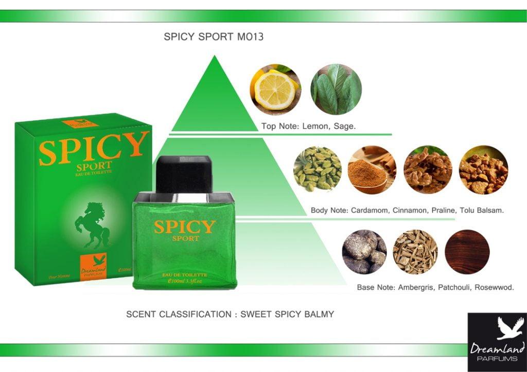piramida zapachowa woda toaletowa spicy sport dla mężczyzn