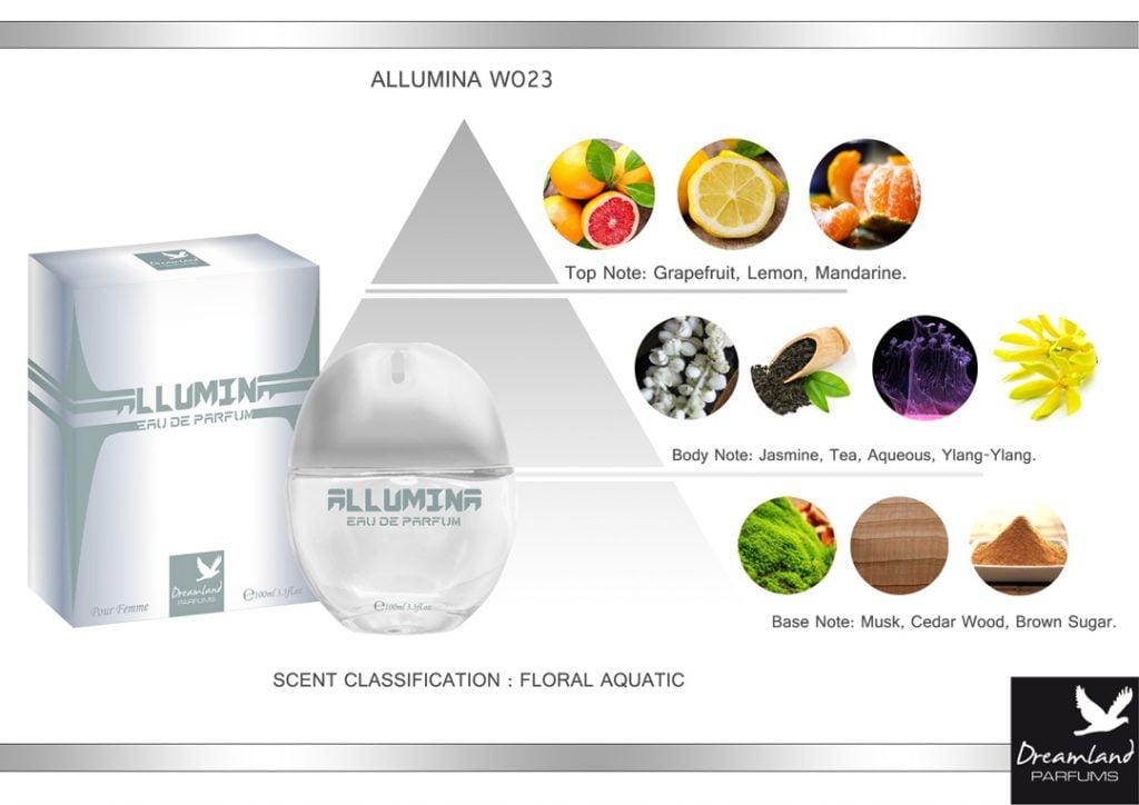 allumina piramida zapachowa perfumu dla kobiet