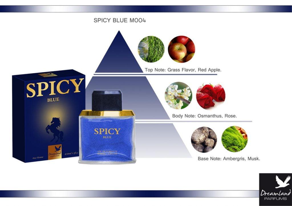 piżmowy perfum dla panów spicy blue piramida zapachowa