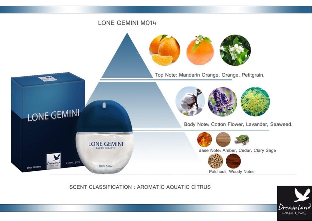 piramida zapachu lone gemini - męska woda toaletowa